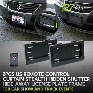 Powered Remote Stealth Hide Away License Frame Plate Choice Of Curtain Flipper