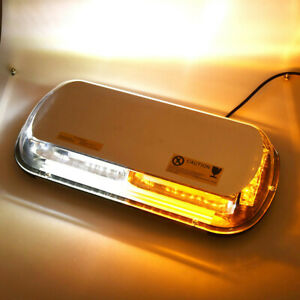 Warning Roof Top Strobe Light 44 Led Emergency Flash Bar Amber White Car