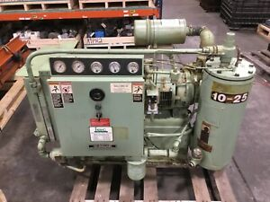 25hp Sullair Rotary Screw Air Compressor 230 460v 25 Hp Low Hrs 73bk