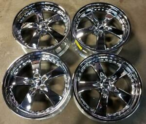 Kaotic Wheels Rims 20 Inch 5x120 15mm Chrome