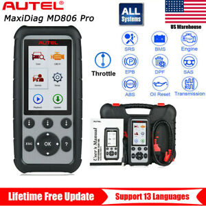 Autel Maxidiag Md806 Pro Obd2 Engine All System Automotive Diagnostic Scan Tool