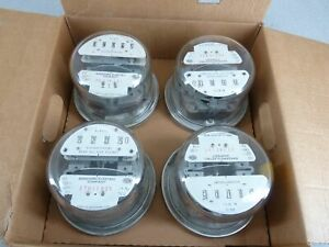 Case Of 4 Sangamo Electric Watthour Meters Cl200 240v 4 Lug Form25 Glass Dome 3