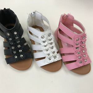 Girls Toddler Zipper Gladiator Plate Sandals Shoes size 5-10 $9.99
