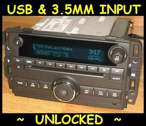 Unlocked 2010 2013 Chevy Silverado Gmc Sierra Cd Radio Ipod Usb Input 3 5 Mp3