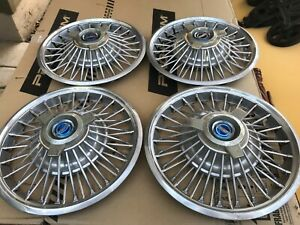 4 Vintage 1964 1965 1966 Ford Mustang 14 Wire Spinner Hubcaps Wheel Covers