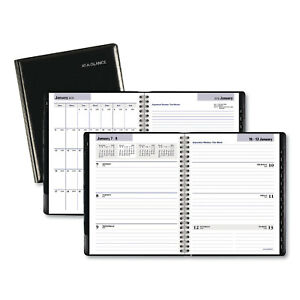 At a glance Executive Weekly monthly Planner 8 3 4 X 6 7 8 Black 2020 G54500