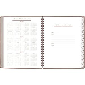 At a glance Signature Collection Weekly monthly Planner 8 3 4 X 11 Gray olive
