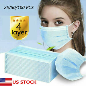 Lot Of 4 Layer Face Mask Mouth Nose Protector Respirator Masks With Filter