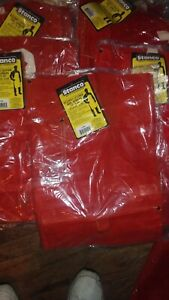 Lot Of 6 Leather Welding Apron Heat Resistant Work Safety Insulated Bib Ppe