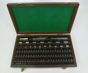 Mitutoyo 81 Piece Gage Block Set Gauge Blocks W Wooden Case P n 516 904