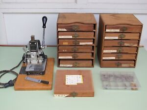 Kingsley Hot Foil Stamping Machine With 13 Boxes Of Type Sets