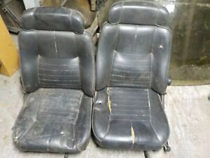 Alfa Romeo Alfetta Gt Used Original Pair Of Front Seats In Black Vinyl