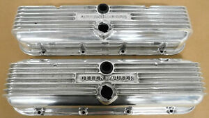 Offenhauser 5614 Bb Chevy Alum Valve Covers Rare Finned polished Stock Height