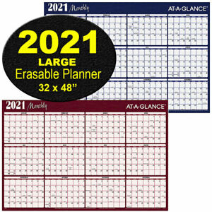 2021 Monthly A152 21 At a glance Dry Erase Wall Calendar 32 X 48