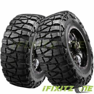 2 Nitto Grappler 33x12 50r17 120q E10 Extreme Terrain Off Road Truck Mud Tires