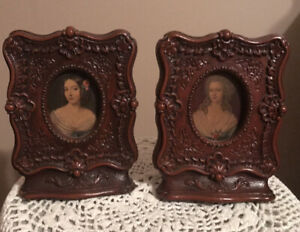 Antique Vintage Syroco Wood Victorian Style Portrait Picture Frame Bo
