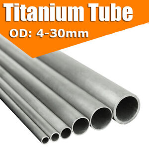 4 30mm Od Gr2 Titanium Tube High Intensity Industrial Ti Pipe 300 400 500mm Long