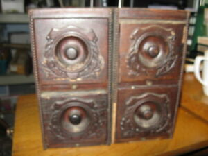 4 Antique Vintage Treadle Sewing Machine Drawers Trinket Parts Box With Frames