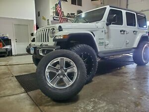 18 Jeep Wrangler 2020 Set Of 5 Rims Tires Tpms Locking Lug Nuts And Cover