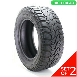 Set Of 2 Used Lt 35x12 5r20 Mickey Thompson Baja Atz Radial 121q 12 32