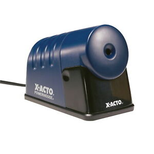 X acto Powerhouse Electric Heavy Duty Steel Pencil Sharpener Blue