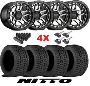 17 Xd Machined Wheels Rims Tires 285 70 17 Nitto G2 All Terrain Silver