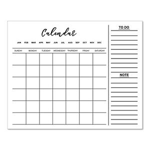 Monthly Magnetic Dry Erase Calendar For Refrigerator Whiteboard To Do Planner