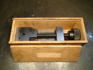 Precision Ground Toolmakers Vise 2 1 2 Wide Jaws Open 2 7 8 Used Good Cond