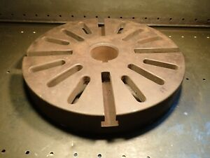 18 Slotted Lathe Face Plate L 1 Long Taper Threaded Spindle Hub Used Good