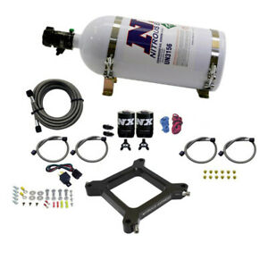 Nitrous Express 4150 Assassin Plate Stage 6 Nitrous Kit 50 300hp W 10lb Bottle
