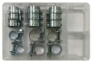 15 1 4 5 16 3 8 Solid Band Fuel Injection Gas Line Hose Clamp Clip Kit