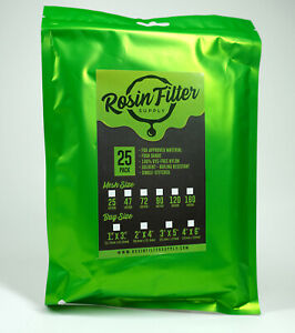90 Micron Rosin Press Filter Bags 25 pack Squish Ready 4 X 6