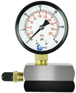 Gas Test Pressure Gauge 30 Pound 30 Psi 200 Kpa 3 4 Fnpt Connection Assembly