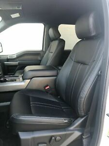 2019 Ford F 150 Xlt Supercrew Crew Cab Black Factory Style Leather Seat Covers