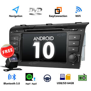 Android 10 7 Car Stereo Gps Navigation Radio Android Auto Dvd Rds For Mazda3 Cam