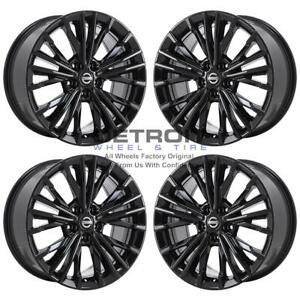 18 Nissan Maxima Gloss Black Exchange Wheels Rims Factory Oem 62722 2016 2020