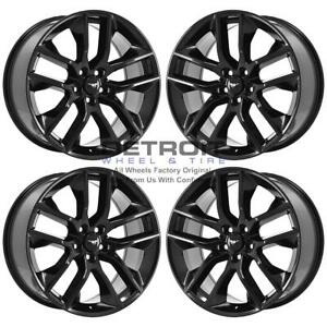 20 Ford Mustang Gloss Black Exchange Wheels Rims Factory Oem 10039 2015 2019