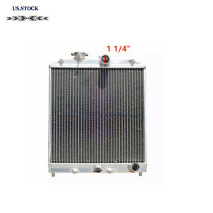 Aluminum Radiator 92 00 Honda Civic Ej Ek Del Sol Eg 94 01 Integra Manual 2 Row