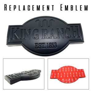 Mad Replacement Emblem Nameplate Matte Black King Ranch F150 F250 101067