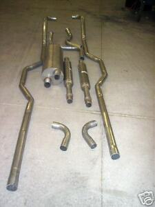 1966 70 Oldsmobile Toronado Dual Exhaust System 304 Stainless W Out Resonators
