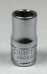Vintage Craftsman Tools 43503 Series Vv 7mm Chrome Socket 1 4 Drive 6pt Usa