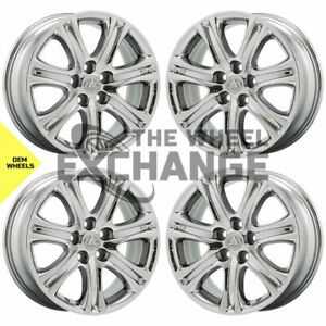 18 Lexus Ls Ls460 Ls600 Telios Pvd Chrome Wheels Rims Factory Oem Set 4 74220