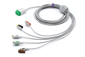 Ge Marquette Dash Pro Tram 11 Pin 5 Leads Grabber Ecg Cable Same Day Shipping
