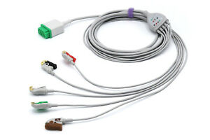 Ge Healthcare Vivid 7 11 Pin 5 Leads Grabber Ecg Cable Same Day Shipping