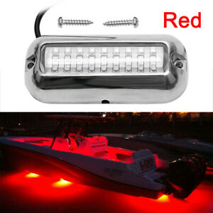 New Red 27led Underwater Boat Marine Transom Lights 316 Stainless Steel Pontoon