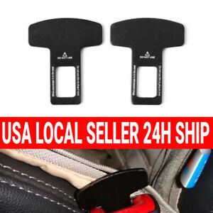 2pc Universal Car Safety Seat Belt Buckle Alarm Stopper Clip Carbon Fiber Clamp