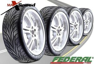 qty Of 4 Federal Ss595 205 40r16 Ultra High Performance Tires