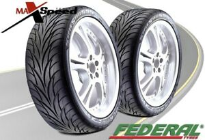 qty Of 2 Federal Ss595 205 40r16 Ultra High Performance Tires