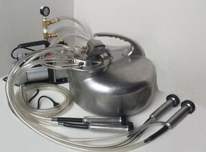 Portable Complete Milking Machine cow goat sheep new 1 3 Hp Vacuum Pump