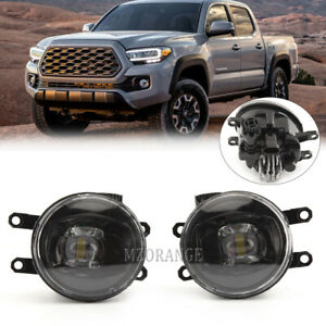Pair Led Fog Lights For 2012 2017 Toyota Tacoma 4runner Tundra Rav4 Driving Lamp